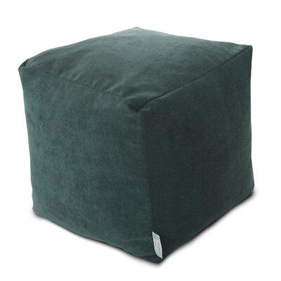 Villa Small Beanbag Cube Ottoman Upholstery: Marine