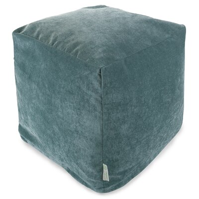 Villa Small Beanbag Cube Ottoman Upholstery: Azure
