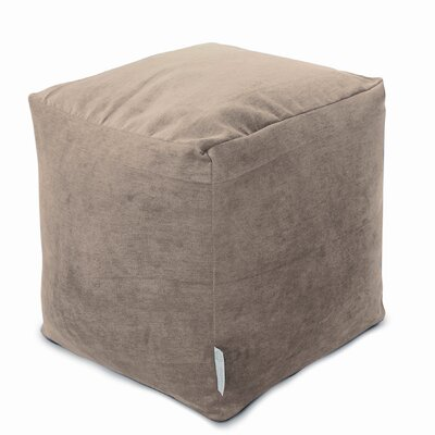 Villa Small Beanbag Cube Ottoman Upholstery: Pearl