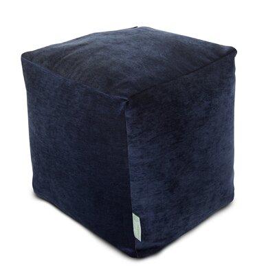 Sosebee Small Beanbag Cube Ottoman Upholstery: Navy