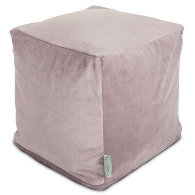Villa Small Beanbag Cube Ottoman Upholstery: Steel
