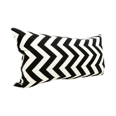 Zig Zag Lumbar Pillow Color: Black
