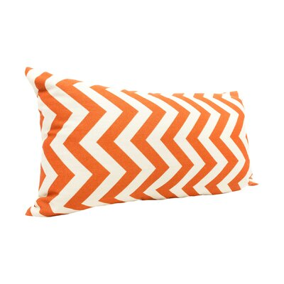 Zig Zag Lumbar Pillow Color: Burnt Orange