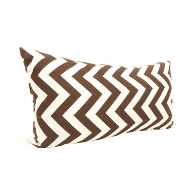Zig Zag Lumbar Pillow Color: Chocolate