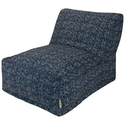 Navajo Bean Bag Lounger Upholstery: Navy
