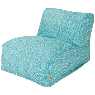 Navajo Bean Bag Lounger Upholstery: Teal