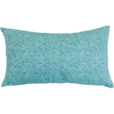 Navajo Outdoor Lumbar Pillow Fabric: Teal