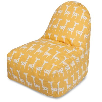 Stretch Bean Bag lounger Color: Yellow