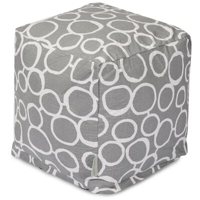 Fusion Cube Ottoman Upholstery Color: Gray