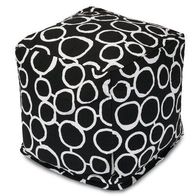 Fusion Cube Ottoman Upholstery Color: Black