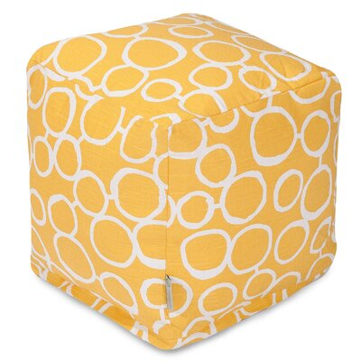 Fusion Cube Ottoman Upholstery Color: Yellow