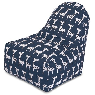 Stretch Bean Bag lounger Color: Navy