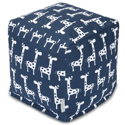 Stretch Pouf Color: Navy