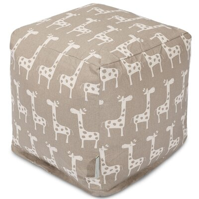 Stretch Cube Ottoman Color: Maple