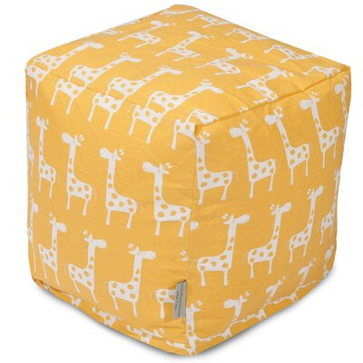 Stretch Cube Ottoman Color: Yellow