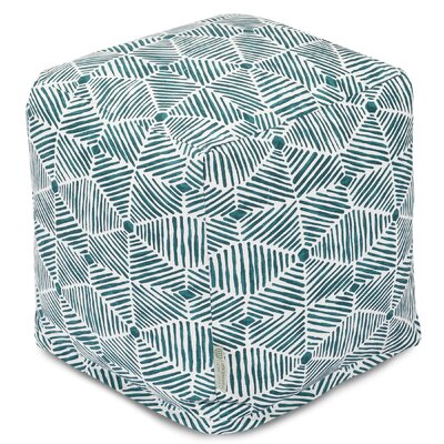 Charlie Cube Ottoman Color: Emerald