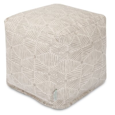Charlie Cube Ottoman Color: Beige