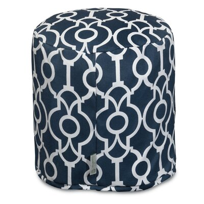 Image of Athens Pouf Ottoman Color: Navy