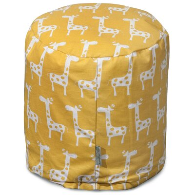 Stretch Pouf Ottoman Upholstery Color: Yellow