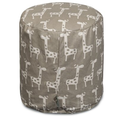 Stretch Pouf Ottoman Upholstery Color: Maple