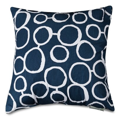 Fusion Throw Pillow Size: 20 H x 20 W, Color: Navy