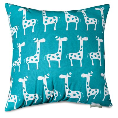 Stretch Throw Pillow Size: 20 H x 20 W, Color: Turquoise