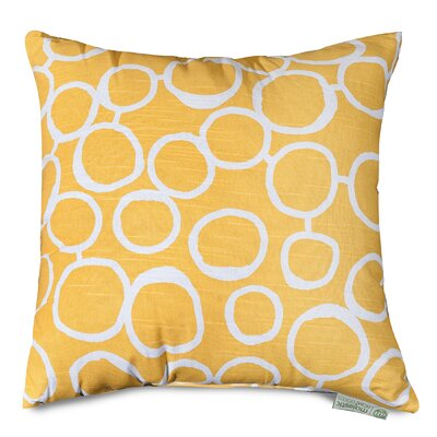 Fusion Throw Pillow Size: 20 H x 20 W, Color: Yellow