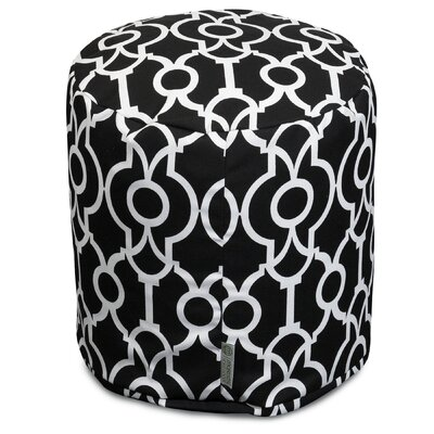 Athens Pouf Ottoman Color: Black