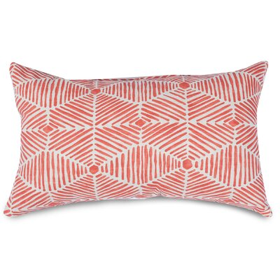 Charlie Lumbar Pillow Color: Salmon