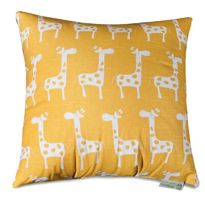 Stretch Throw Pillow Size: 20 H x 20 W, Color: Yellow