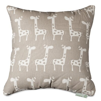 Stretch Throw Pillow Size: 24 H x 24 W, Color: Maple