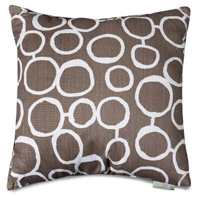 Fusion Throw Pillow Size: 24 H x 24 W, Color: Mocha