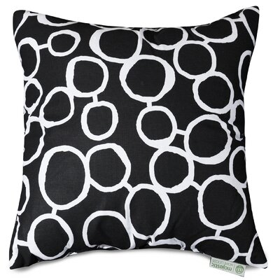 Fusion Throw Pillow Color: Black, Size: 20 H x 20 W