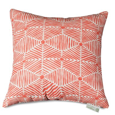 Charlie Throw Pillow Size: 24 H x 24 W, Color: Salmon