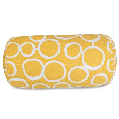 Fusion Round Bolster Pillow Color: Yellow