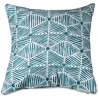 Charlie Throw Pillow Size: 24 H x 24 W, Color: Emerald