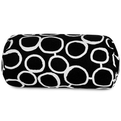 Fusion Round Bolster Pillow Color: Black