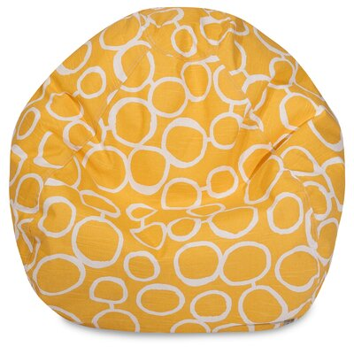 Fusion Classic Bean Bag Chair Color: Yellow