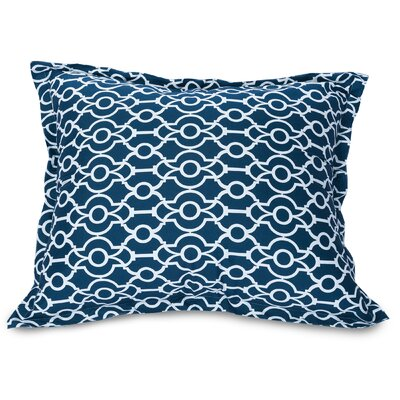 Athens Floor Pillow Color: Navy