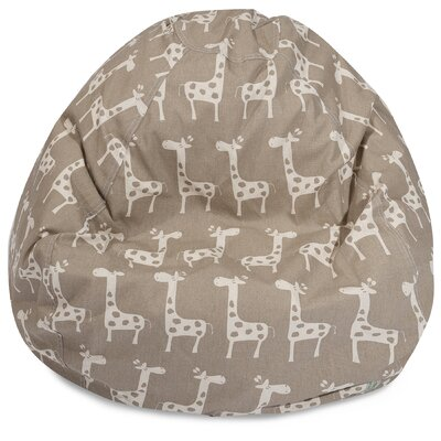 Stretch Classic Bean Bag Chair Color: Maple