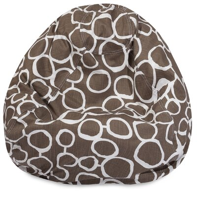 Fusion Classic Bean Bag Chair Color: Mocha