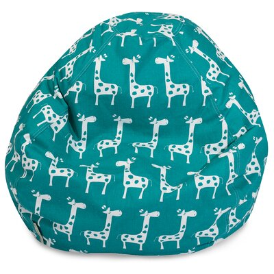 Stretch Classic Bean Bag Chair Color: Turquoise