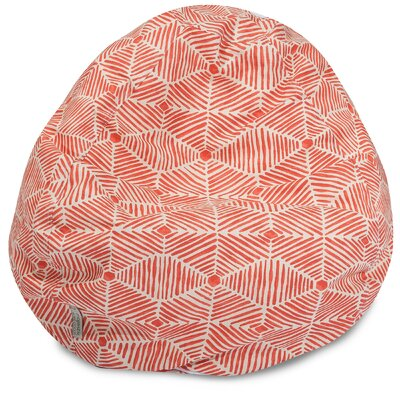 Charlie Classic Bean Bag Chair Color: Salmon