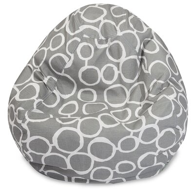 Fusion Classic Bean Bag Chair Color: Gray