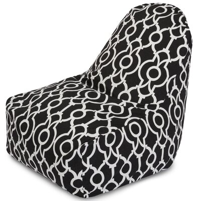 Athens Bean Bag Lounger Color: Black