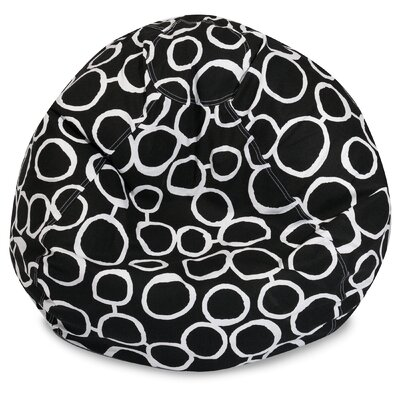 Fusion Classic Bean Bag Chair Color: Black