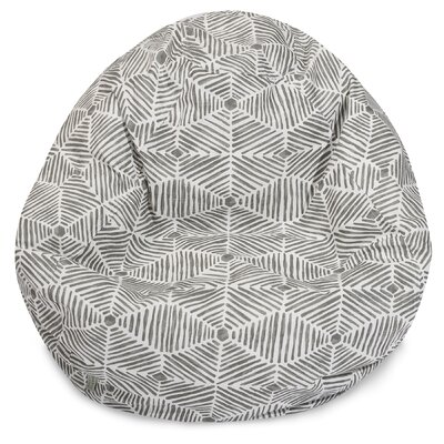 Charlie Classic Bean Bag Chair Color: Gray