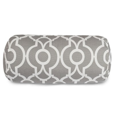Athens Round Bolster Pillow Color: Gray