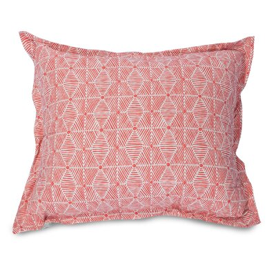 Charlie Floor Pillow Color: Salmon