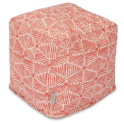 Charlie Cube Ottoman Color: Salmon